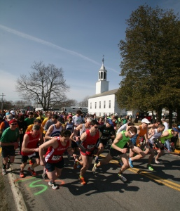 Race Start, Church in Background